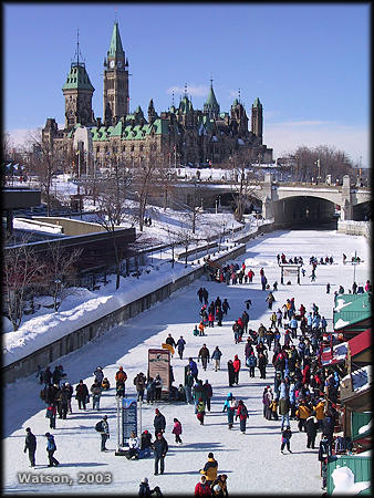 rideau canal waterway photo winterlude